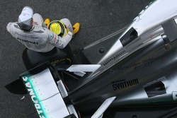 Nico Rosberg, Mercedes GP, mit dem Mercedes F1 W03