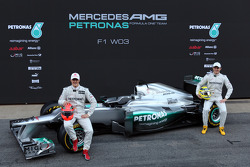 Michael Schumacher, Mercedes GP; Nico Rosberg, Mercedes GP