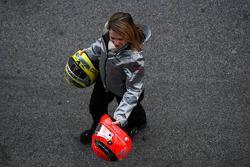 Helme von Michael Schumacher und Nico Rosberg, Mercedes GP