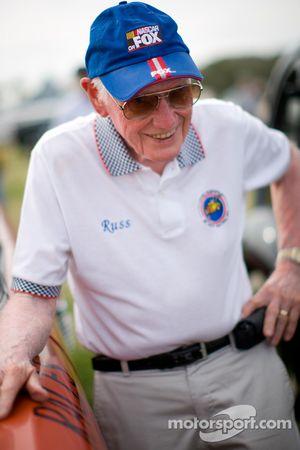 """Living legends of auto racing street parade"": Russ Truelove"