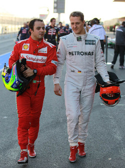 Felipe Massa, Scuderia Ferrari and Michael Schumacher, Mercedes AMG Petronas
