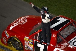 Race winner John King, Red Horse Racing Toyota celebrates
