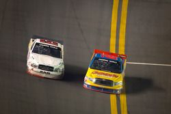 Dusty Davis, Toyota and Chris Fontaine, Ingram Toyota almost collide in the trioval