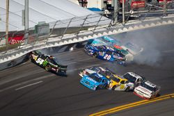 Kyle Busch, Kyle Busch Motorsports Toyota crashes heavily in the SAFER wall