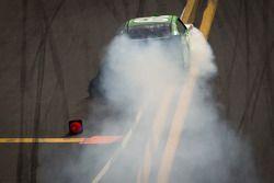 Joey Gase, Go Green Racing Ford smokes