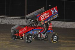 Tony Stewart in actie in een sprint car