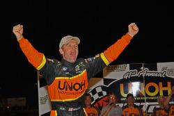 Kenny Wallace celebrates victory