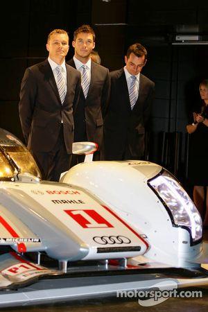 Marcel Fassler, Andre Lotterer and Benoit Tréluyer