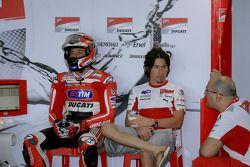 Franco Battaini y Nicky Hayden, Ducati Marlboro Team