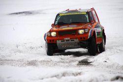 Evgeni Fircov was doing well until a heavy crash