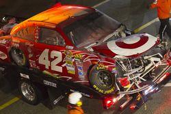 Gecrashte wagen Juan Pablo Montoya, Earnhardt Ganassi Racing Chevrolet