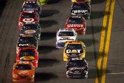 Joey Logano, Joe Gibbs Racing Toyota and Kevin Harvick, Richard Childress Racing Chevrolet
