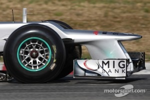 Mercedes front wing and nose cone