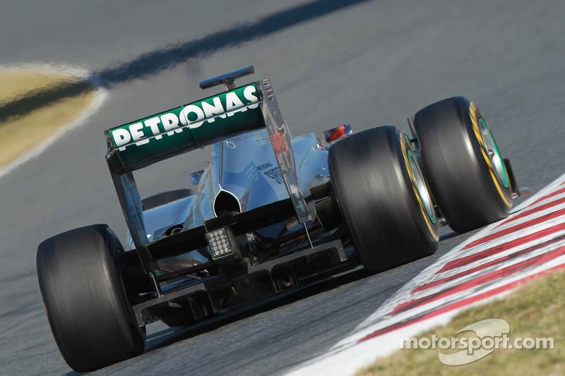 Michael Schumacher, Mercedes GP alerón trasero