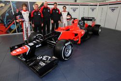 Тимо Глок и Шарль Пик. Презентация Marussia F1 MR01, Презентация.
