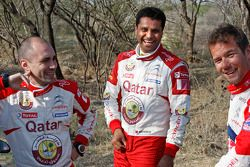 Sébastien Loeb, Citroën Total World Rally Team Giovanni Bernacchini en Nasser Al-Attiyah, Qatar Worl