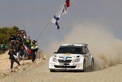 Sébastien Ogier en Julien Ingrassia, Skoda Fabia S2000, Volkswagen Motorsport