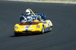 #22 Erwin van Gelder - Lotus 23 Replica (1963) and #9 Robin Longdon - Lola Mk1 Coventry-Climax