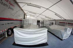 La place dans le paddock d'Audi Sport