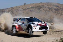 Nasser Al-Attiyah y Giovanni Bernacchini, Citroën DS3 WRC, Qatar World Rally Team