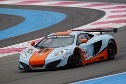 #90 Gulf Racing McLaren MP4-12C GT3: Michael Wainwright, Rob Bell