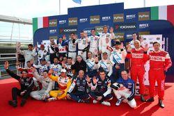 WTCC 2012 Drivers and Jean Todt, President FIA