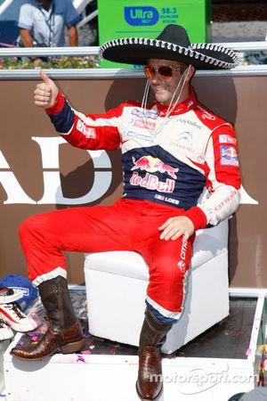 Podium: winner Sébastien Loeb, Citroën Total World Rally Team