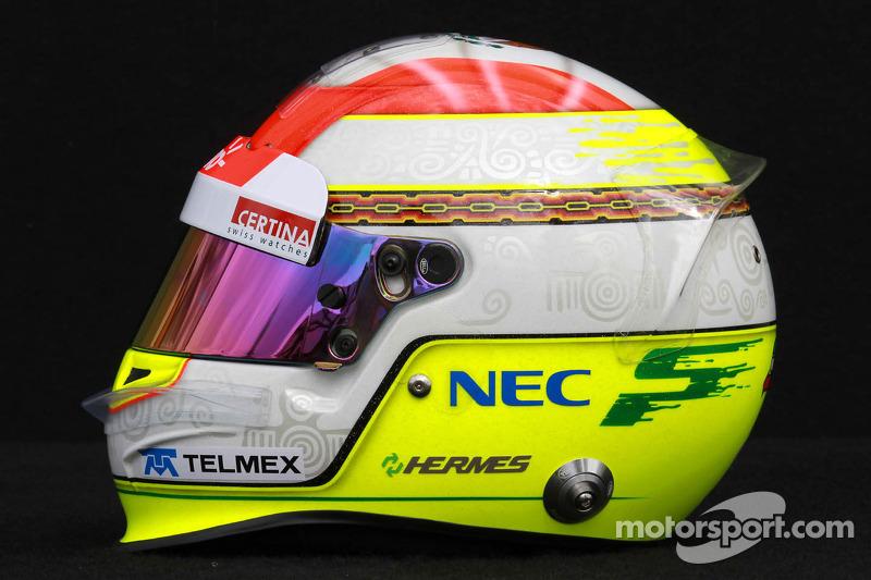 Casco de Sergio Pérez, Sauber F1 Team 2012