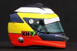 Pedro de la Rosa, HRT Formula 1 Team, kask