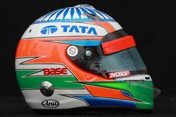 Narain Karthikeyan, HRT Formula 1 Team, kask