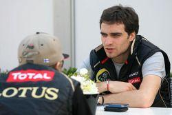 Jérôme d'Ambrosio, third driver, Lotus F1 Team and Kimi Raikkonen, Lotus F1 Team