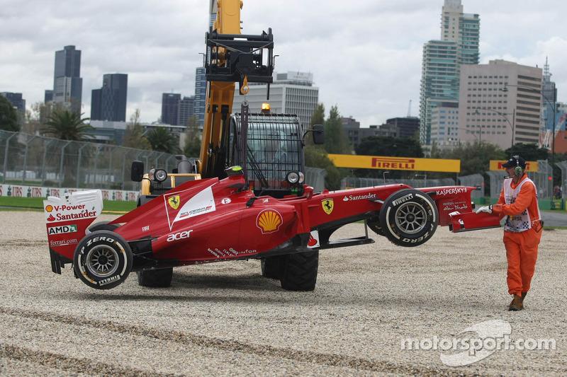 Felipe Massa, Scuderia Ferrari van de baan
