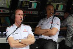 Sam Michael ve Martin Whitmarsh, McLaren, Şef Sorumlusu