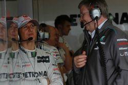 Michael Schumacher, Mercedes GP and Ross Brawn, Team Principal, Mercedes GP Petronas