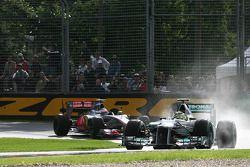 Nico Rosberg, Mercedes GP ve Jenson Button, McLaren Mercedes