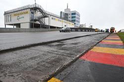 Bauarbeiten am Sachsenring
