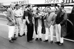 Mike Hawthorn, Lancia-Ferrari D50, Roy Salvadori, Cooper T43-Climax, Tony Brooks, Vanwall VW4, Jo Bonnier, Maserati 250F, Maurice Trintignant, Lancia-Ferrari D50, Jean Behra, Maserati 250F ve Luigi Musso, Lancia-Ferrari D50