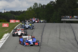 Takuma Sato, Andretti Autosport Honda, Sébastien Bourdais, Dale Coyne Racing Honda