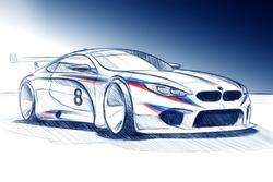 BMW M8 GTE illüstrasyonu