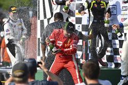 Podium: race winners Daniel Mancinelli, Andrea Montermini, TR3 Racing, second place Michael McCann, Mike Skeen, McCann Racing, third place Michael Cooper, Jordan Taylor, Cadillac Racing