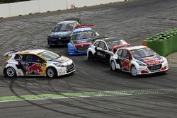 Себастьен Лёб, Team Peugeot Hansen, Peugeot 208 WRX, и Кевин Хансен, Team Peugeot Hansen Academy, Peugeot 208 WRX