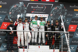 Pro-Am Podium: first place Alexander Matschull, Daniel Keilwitz, Rinaldi Racing, second place Jean-Luc Beaubelique, Jules Gounon, Akka ASP, third place Piti Bhirombhakdi, Carlo Van Dam, Kessel Racing TP12