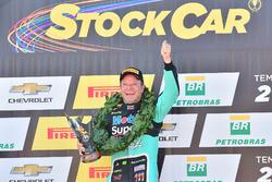 Rubens Barrichello a brazil Stock Car-bajnokság dobogóján
