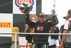 Podium: second place Leon Haslam, Puccetti Racing