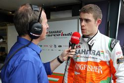 Paul di Resta, Sahara Force India Formula 1 Team ve Martin Brundle, SKY TV