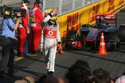 Pole position de Lewis Hamilton, McLaren Mercedes