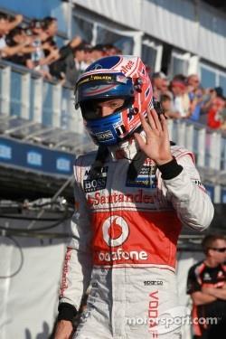 Second place qualifying for Jenson Button, McLaren Mercedes