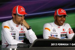 Press conference, Jenson Button, McLaren Mercedes, Lewis Hamilton, McLaren Mercedes