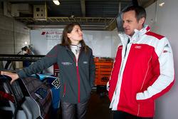 Cyndie Allemann and Audi Sport Customer Racing Johannes Trost