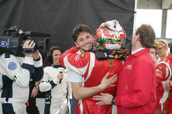 Gianmaria Bruni celebrates GTE-Pro pole